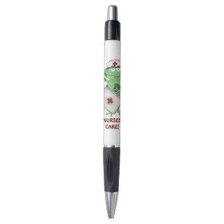 Nurses care cartoon ink pen
