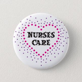 nurses care pinback button