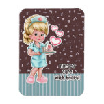 Nurses care with Heart. Gift Magnets for Nurses