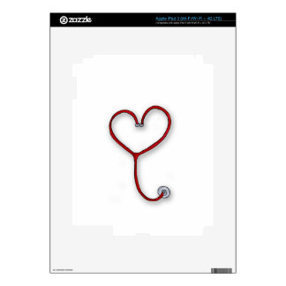 Nurses care with Heart - Nurses Gift - Personalize iPad 3 Decal