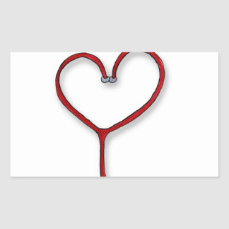 Nurses care with Heart - Nurses Gift - Personalize Rectangular Sticker