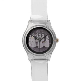 Nurses Carrying a Stretcher Wrist Watch