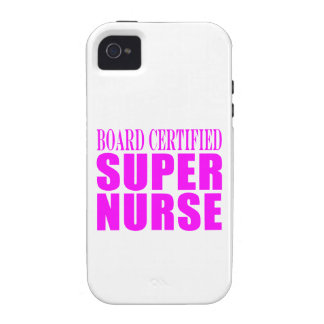 Nurses Cool Pink Gifts Board Certified Super Nurse iPhone 4/4S Cover
