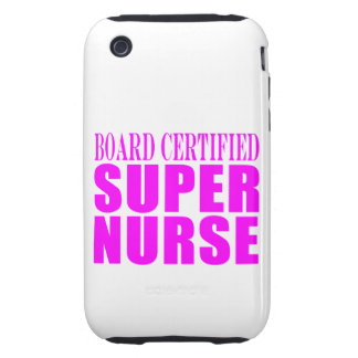 Nurses Cool Pink Gifts Board Certified Super Nurse Tough iPhone 3 Cases