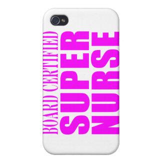 Nurses Cool Pink Gifts Board Certified Super Nurse iPhone 4 Case