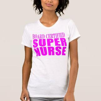 Nurses Cool Pink Gifts Board Certified Super Nurse T-Shirt
