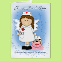 Nurse's Day Card - Angels In Disguise