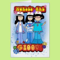 Nurses Day Card - Groovy Nurse's