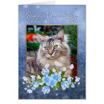 Nurse's Day Card, Maine Coon Cat, Cat Nurse's Day