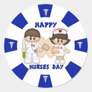 Nurses Day Classic Round Sticker, Glossy Classic Round Sticker