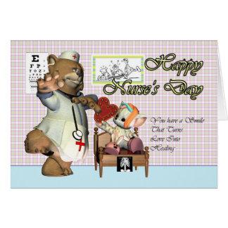 Nurse's Day cute little cat with nurse Card