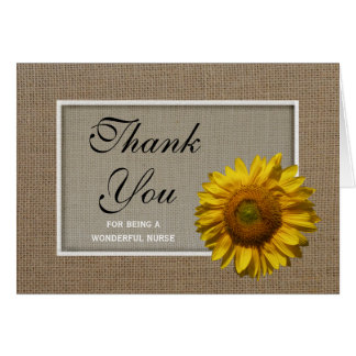Nurses Day Greeting Card -- Sunflower