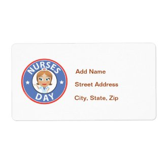 Nurses Day Shipping Label