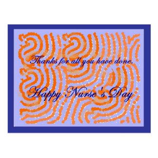Nurses Day thank you post card. Customizable. Postcard