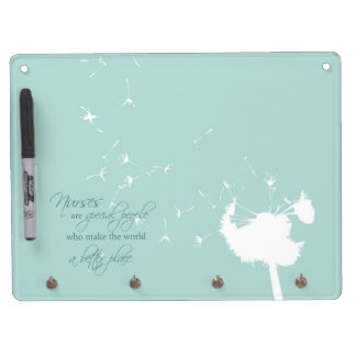 Nurses Day with Dandelion Blowing on Teal Dry-Erase Boards