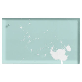 Nurses Day with Dandelion Blowing on Teal Table Card Holder