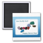 Nurses Day You Really Rock 2 Inch Square Magnet