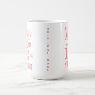 Nurses do it 12 hrs straight!-CRITICAL CARE/Pink Classic White Coffee Mug