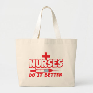 NURSES do it better with needle and cross Canvas Bags