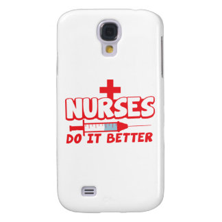 NURSES do it better! with needle and cross Galaxy S4 Cover