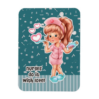 Nurses do it with Love. Gift Magnets for Nurses
