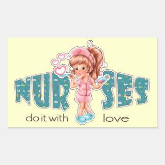 Nurses do it with Love. Nurses Day Stickers