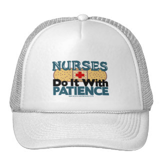 Nurses Do It With Patience Trucker Hat