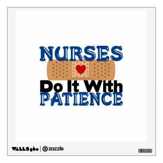 Nurses Do It With Patience Wall Sticker