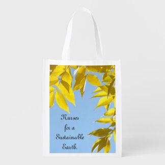 Nurses for a Sustainable Earth Tote Bags Nurse Grocery Bag