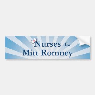 Nurses for Mitt Romney-Blue Sunburst Bumper Sticker