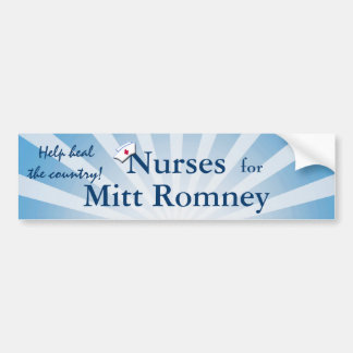 Nurses for Mitt Romney-Help Heal the Country! Bumper Stickers