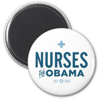 Nurses for Obama 2 Inch Round Magnet