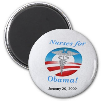 Nurses for Obama 2 Inch Round Magnet