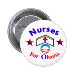 nurses for obama button