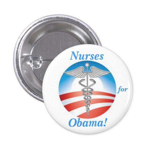 Nurses for Obama! Buttons