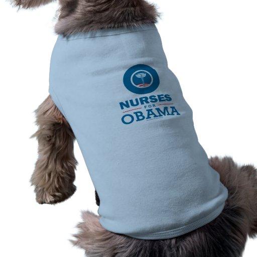Nurses for Obama Dog T-shirt