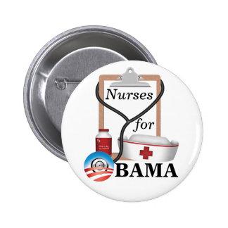 Nurses for Obama! Pinback Button