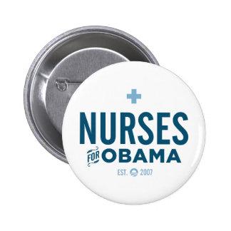 Nurses for Obama Pinback Button