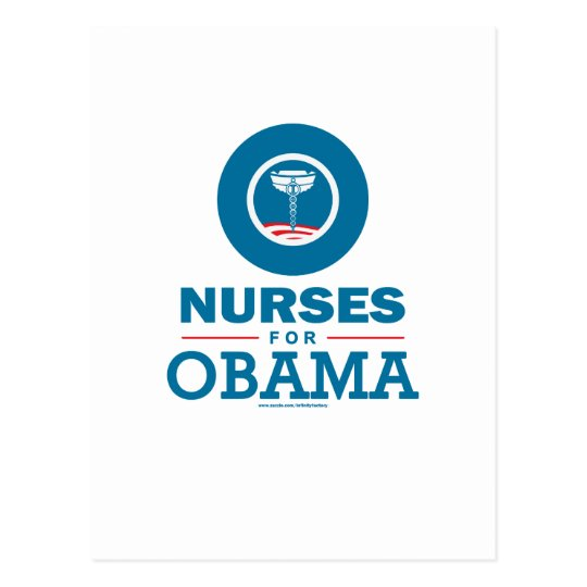 Nurses for Obama Postcard