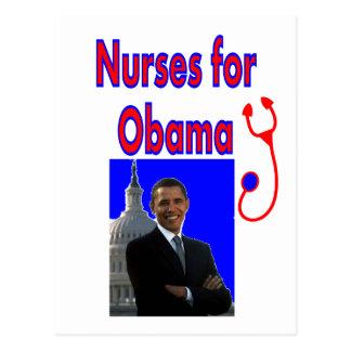 Nurses for OBAMA--President Obama Gifts Post Cards