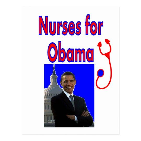Nurses for OBAMA--President Obama Gifts Postcard
