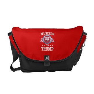 NURSES FOR TRUMP COURIER BAG
