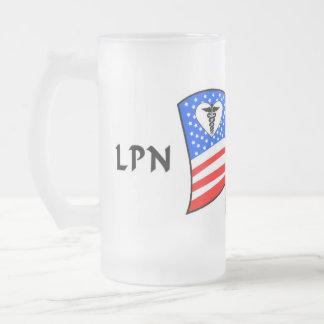 Nurses Frosted Glass Beer Mug