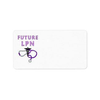 Nurses Future LPN Address Label