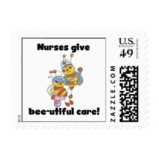 Nurses Give Bee-utiful Care T-shirts and Gifts Stamp