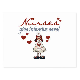Nurses Give Intensive Care t-shirts and Gifts Postcard