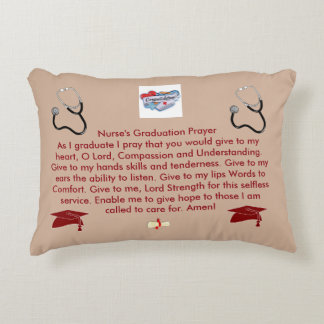 Nurse's Graduation Prayer Decorative Pillow