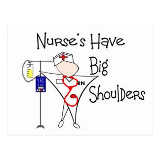 Nurse's Have Big Shoulders--Story Art Gifts Postcard