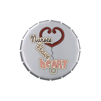 Nurses Have Heart Candy Tins and Jars
