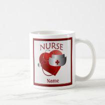 Nurses Have Heart Custom Nurse Name Mug
